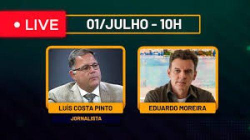 VÍDEO – Live com o Jornalista Luís Costa Pinto