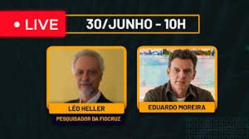 VÍDEO – Mitos e fatos sobre a privatização da água e esgoto – Live com Léo Heller (Pesquisador da FIOCRUZ)