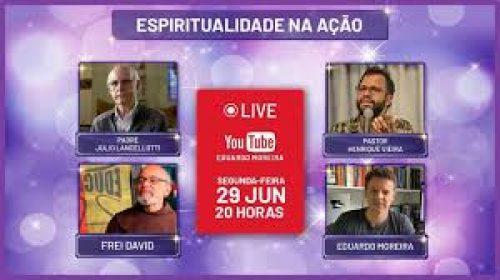 VÍDEO – 4º Espiritualidade na Ação – Live com Pe Júlio Lancellotti, Frei David, Pastor Henrique Vieira
